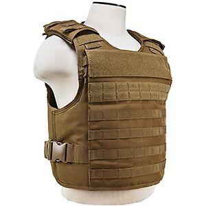 NcSTAR-Tan-MOLLE-VISM-Law-Enforcement-Level-III-IV-Plate-Carrier-Med-2XL