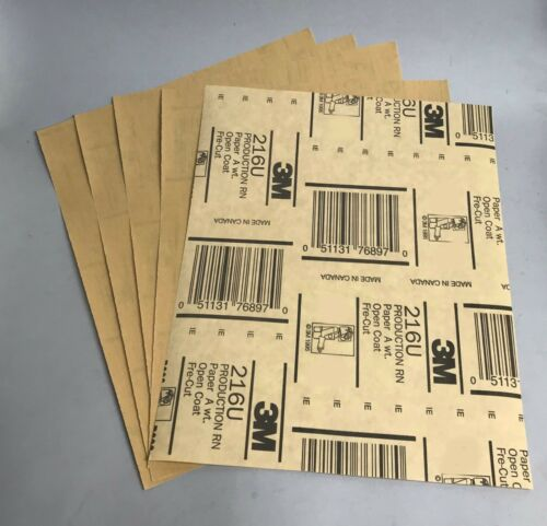 3M FreCut Gold 216u 9 x 11 Sheets 600 grit Package//5  FREE SHIP