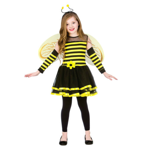 Child CUTE BUMBLE BEE Kids Animal Bug Girls Child Fancy Dress Costume Age 5-13