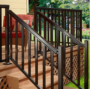 6 Ft Durable Stair Hand Base Porch Deck