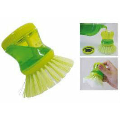 Set Of 2 Pcs Cleaning Brush With Soap Dispensing For Sink, Dish Washing, Kitchen