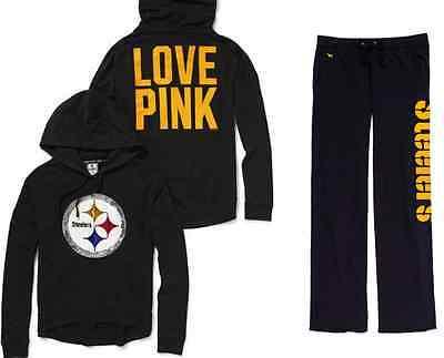 best website 59f64 dc995 Victorias Secret Pink XS/S Small Pittsburgh Steelers Bling Hoodie Sweats |  eBay
