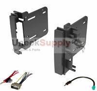 Double Din Dash Kit For After Market Radio Install With Wire Harness & Antenna on sale
