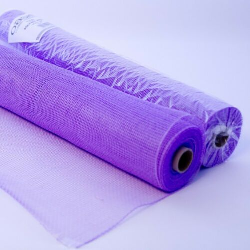 Oasis Polynet Floral Fabric Wrap Lilac 54cm Wide on a 10m Roll