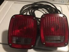 1 Pair Rear Tail Light Lenses Ford Jeep GMC Chevy Truck willys Truck Trailer