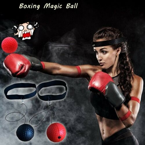 Fight Ball Head Band Reflex Reaction Speed Training Boxing Punch-Exercise-Sport