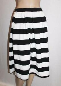 b35b5b815 Image is loading VALLEYGIRL-Brand-Black-White-Wide-Stripe-Pleated-Skirt-