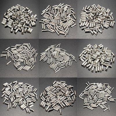 100pcs Copper Uninsulated Bootlace Ferrule Cord Tin End Terminal Crimp 0.5-16mm²