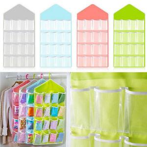 Hot-16-Pockets-Clear-Over-Door-Hanging-Bag-Shoe-Rack-Hanger-Storage-Organizer