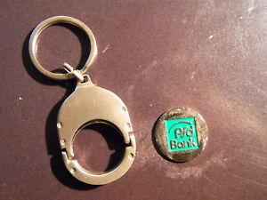 Marke Chip Einkaufswagenchip PSD Bank Schlüselanhänger - Hamburg, Deutschland - Marke Chip Einkaufswagenchip PSD Bank Schlüselanhänger - Hamburg, Deutschland