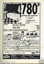 Publicité advertising 1972 Sanitaire GME