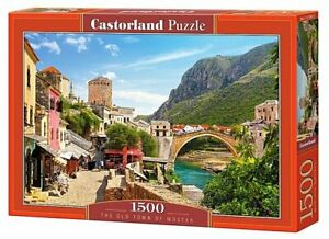 "Brand New Castorland Puzzle 1500 The Old Town of Mostar 27"" x 17.5"" C-151387"