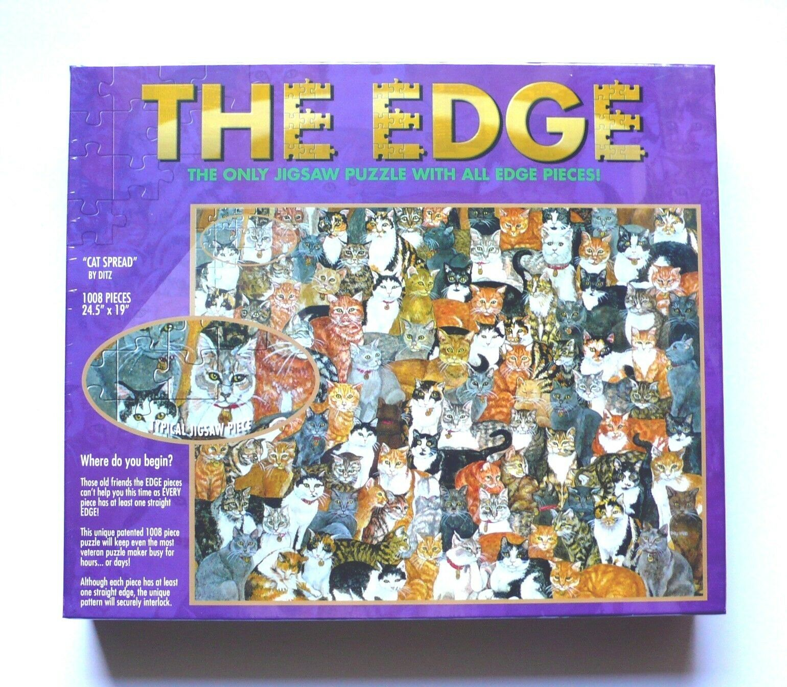 Set of 3 Challenging Jigsaw Puzzles - - - The Edge - Ditz - 3 x 1008 pieces 939ddb