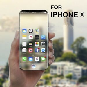 buy popular 4f3dd 459d5 Details about iPhone X/XS Tempered Glass Screen Protector No Bubbles  Anti-Fingerprint
