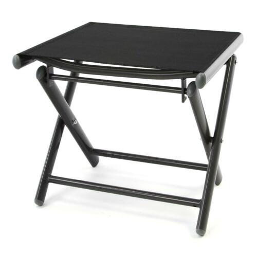 klappbarer Alu Hocker Sitzhocker Textilene schwarz Klapphocker Rahmen dunkelgrau