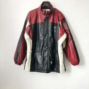 8e9b88d1a9 Image is loading vintage-perry-ellis-america-leather-jacket-mens-size-