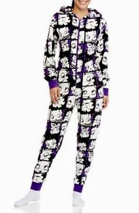 d44cf8cfe Betty Boop Hooded Non Footed Pajamas Purple One Piece L or XXL NEW ...