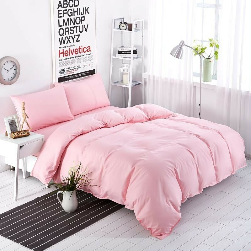 Branded Down Alternative Comforter Egyptian Cotton Pink Solid US King Size
