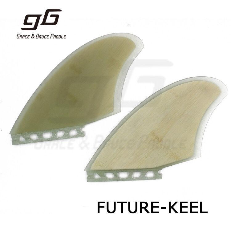 Future Base Fins 2pcs  Set Bamboo Veneer Futures Keel Fins Twins Fins
