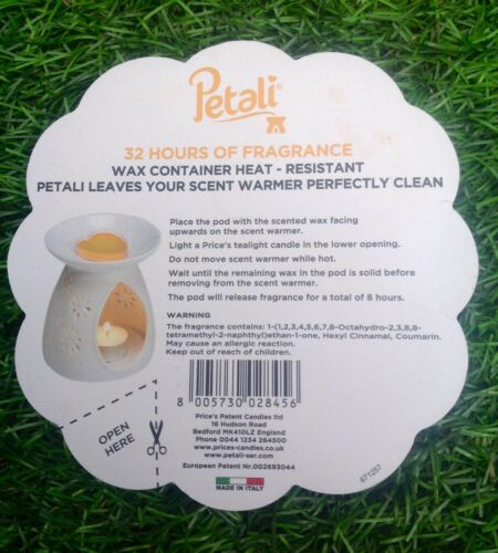 Price/'s Petali Wax Pods White Musk Fragrance Wax Green Candle 8hours Per Pod New