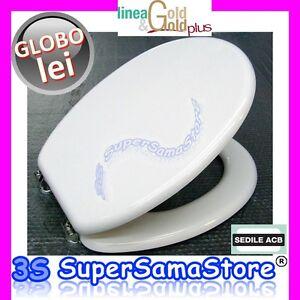 3s Nuovo Sedile Copri Wc Coperchio Per Water Lei Ceramica Globo Acb Linea Gold