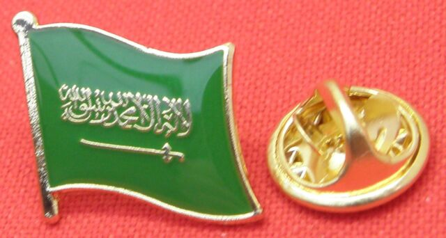 Saudi Arabia Arabian Country Flag Lapel Hat Cap Tie Pin Badge Brooch