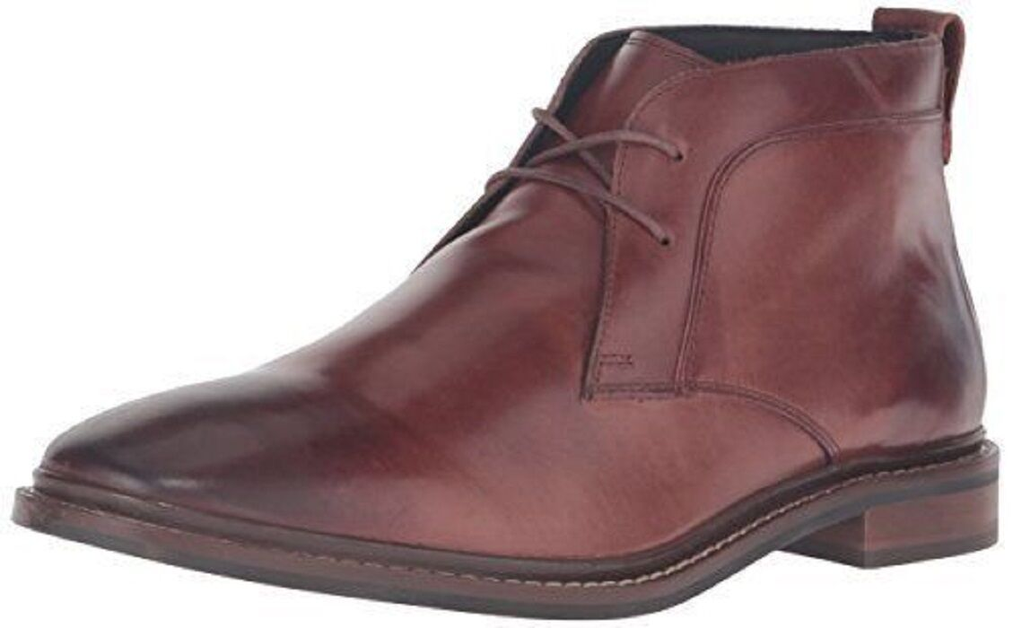 Cole Haan Men's Graydon Chukka Boots Harvest Brown Leather 8.5 NEW IN BOX