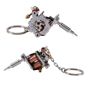 Portable mini tattoo machine tattoo supply gun keychain necklace image is loading portable mini tattoo machine tattoo supply gun keychain mozeypictures Gallery