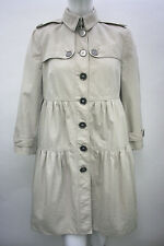 BURBERRY Trench coat Mac Frill Ruffle Light Beige Size 10