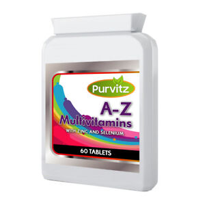 A-Z Multi vitamins 60 Tablets Pills With Zinc And Selenium Adults Men & Women UK