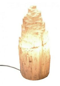 SELENITE-CRYSTAL-LAMP-Snow-Mountain-15cm-518g-Plus-lead-Soothing-Heals