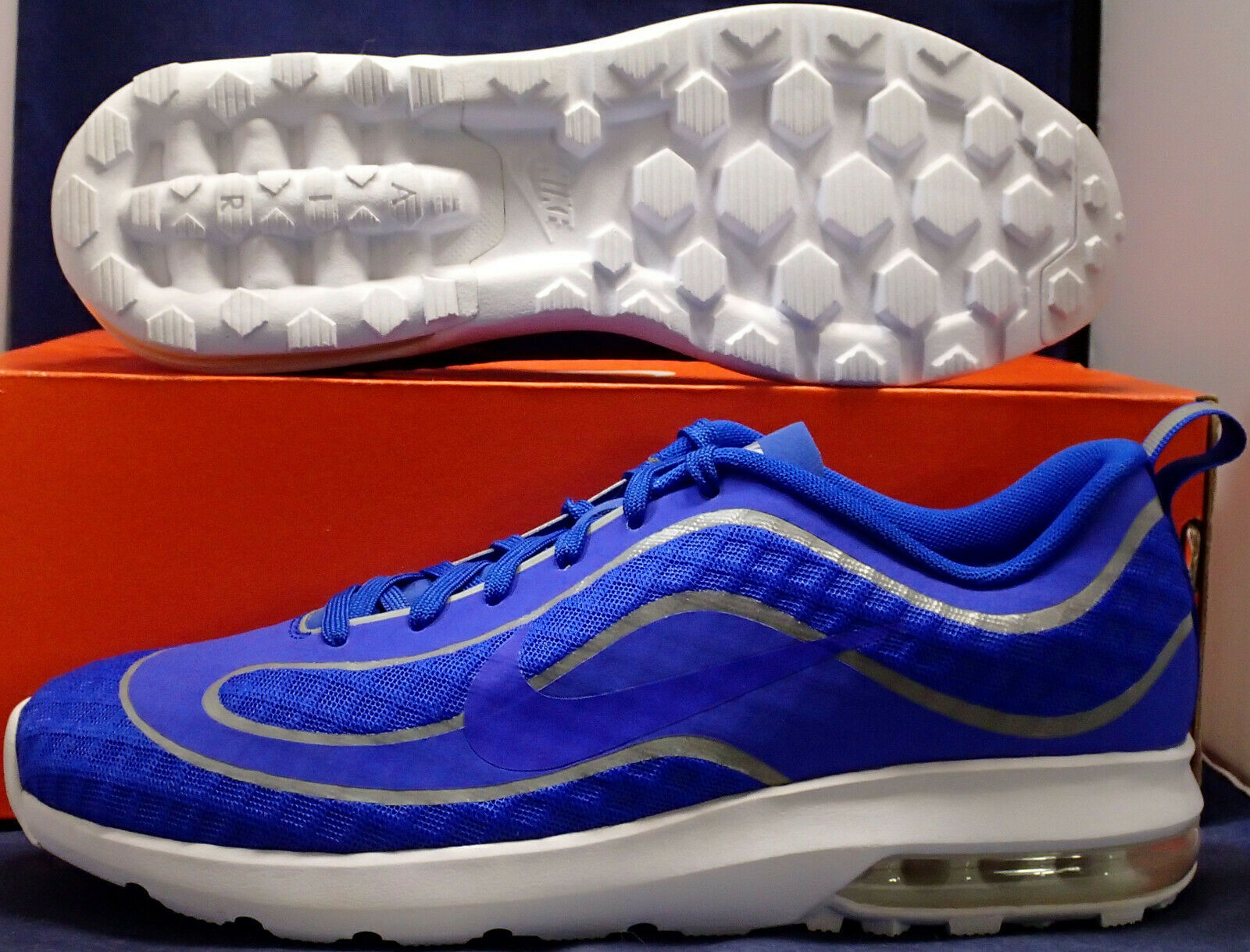 UNRELEASED SAMPLE Nike Air Max Mercurial R9 98 bluee Silver SZ 9 ( 818675-401 )
