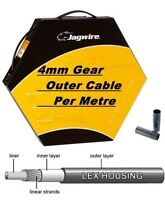 Jagwire Reinforced Bike Gear Outer Cable Housing Black 4mm Diameter