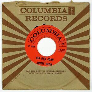 JIMMY-DEAN-Big-Bad-John-I-Won-039-t-Go-Huntin-039-With-Yo-Jake-7IN-1961-COUNTRY-NM