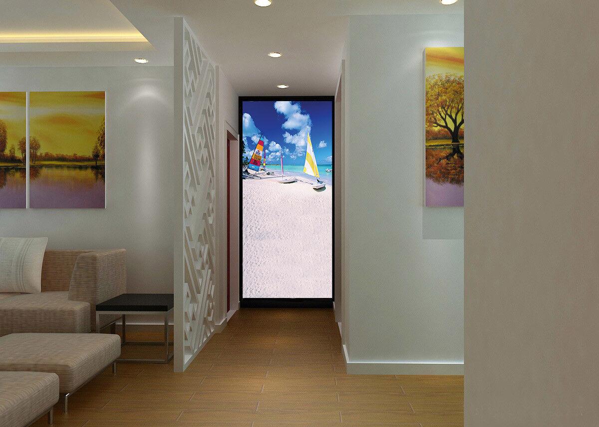 3D Segel Stiefel Strand 85 Tapete Wandgemälde Tapete Tapeten Bild Familie DE Summer