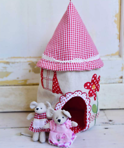 Patchwork Mouse House by Powell Craft + Mice Choice   Cute Gift   FAST DISPATCH