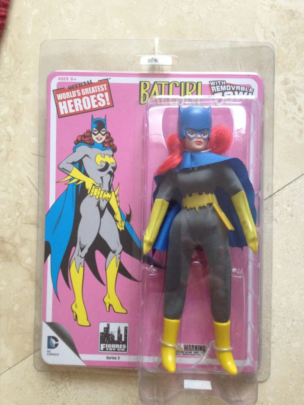 DC Comics World's Greatest Heroes   Batgirl with Removable Cowl