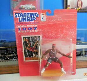 1997 NBA Starting Lineup Dennis Rodman Chicago Bulls Action Figure red hair .