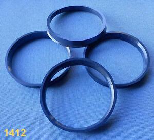 (1412) 4x  Zentrierringe 73,1 / 67,1 mm dunkelgrau für Alufelgen