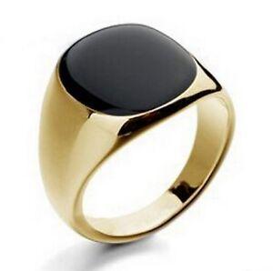 edelstahl herren ring goldring siegel geschenk. Black Bedroom Furniture Sets. Home Design Ideas