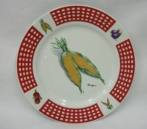 Fresh-Vegetables-Plate-10-3-4-inch-Signed