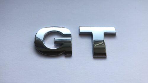 Chrome 3D full metal Auto-Adhésif Voiture Lettres badge emblème autocollant orthographe GT