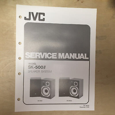 JVC Service Manual for the SX-A6 Speaker System ~ Repair