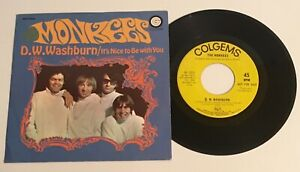 The-Monkees-Rare-1968-Promo-US-45-D-W-Washburn-45-amp-Picture-Sleeve
