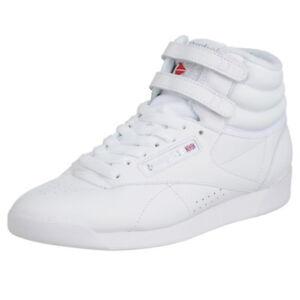 Details zu REEBOK FREESTYLE Hi weiss Damen Sneaker Classic Laufschuhe 2431