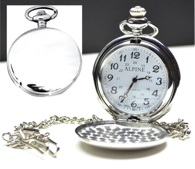 Personalised Engraved Silver Pocket Watch Best Man, Usher Weding Dad Gift