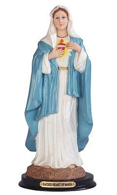 12 Inch Sacred Heart of Mary Sagrado Corazon de Maria Statue Figurine figure