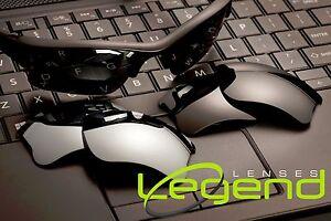 Titanium-Mirror-amp-Dark-black-Oakley-flak-jacket-XLJ-POLARIZED-replacement-lenses