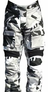 BLACK ASH MENS MOTORCYCLE PANTS TEXTILE CORDURA ARMORED GREY WAIST SIZE 36""
