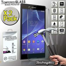 2 Pack Tempered Glass Film Screen Protector For Sony Xperia T2 Ultra Dual D5322